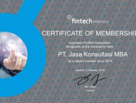 MBA Consulting Indonesia is a member of the Indonesia FinTech Association