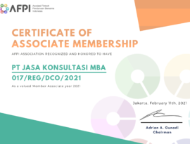M.B.A. Consulting Indonesia became the member of AFPI association